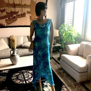 Turquoise Sequins dress Size8
